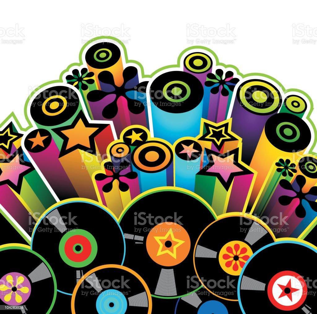 Disco vector art illustration