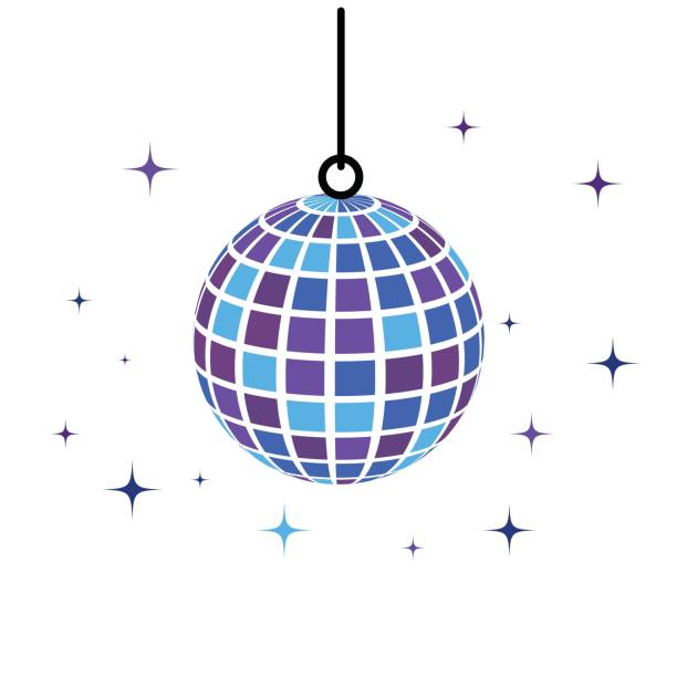 discobal icon Vector Illustration discobal icon Vector Illustration design template disco ball stock illustrations