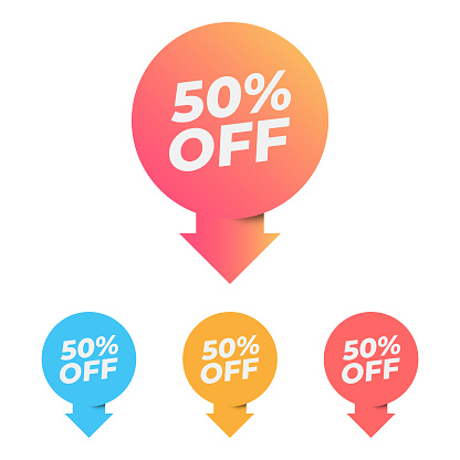 Discount and Special Offers Tag Icon Vector Design.