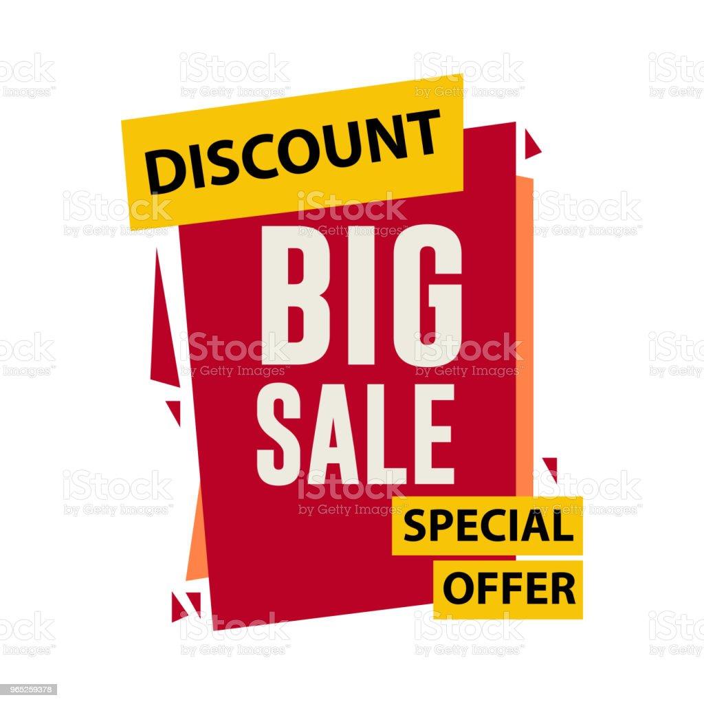 Discount Big Sale Vector Template Design discount big sale vector template design - stockowe grafiki wektorowe i więcej obrazów baner royalty-free