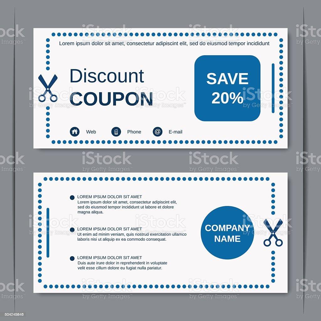 Discount coupon template