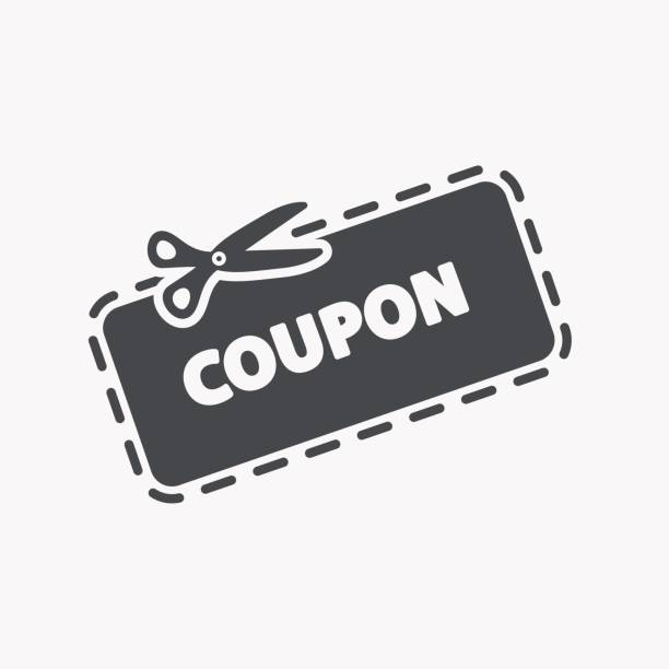 Discount Coupon Icon This is a vector illustration of Discount Coupon Icon coupon stock illustrations