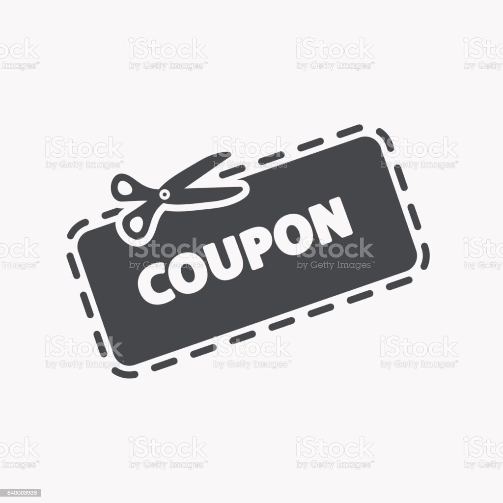 Discount Coupon Icon vector art illustration
