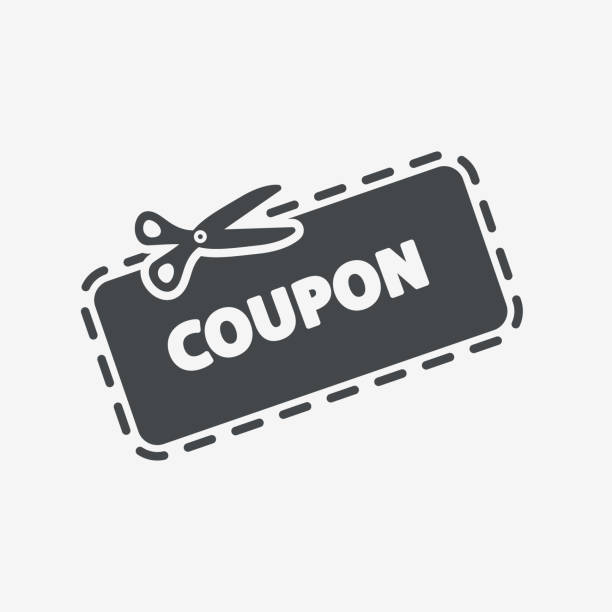 discount coupon icon - coupon stock illustrations, clip art, cartoons, & icons