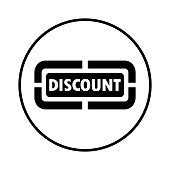 Pixel perfect Discount, discounting, sticker icon for commercial, print media, web or any type of design projects.
