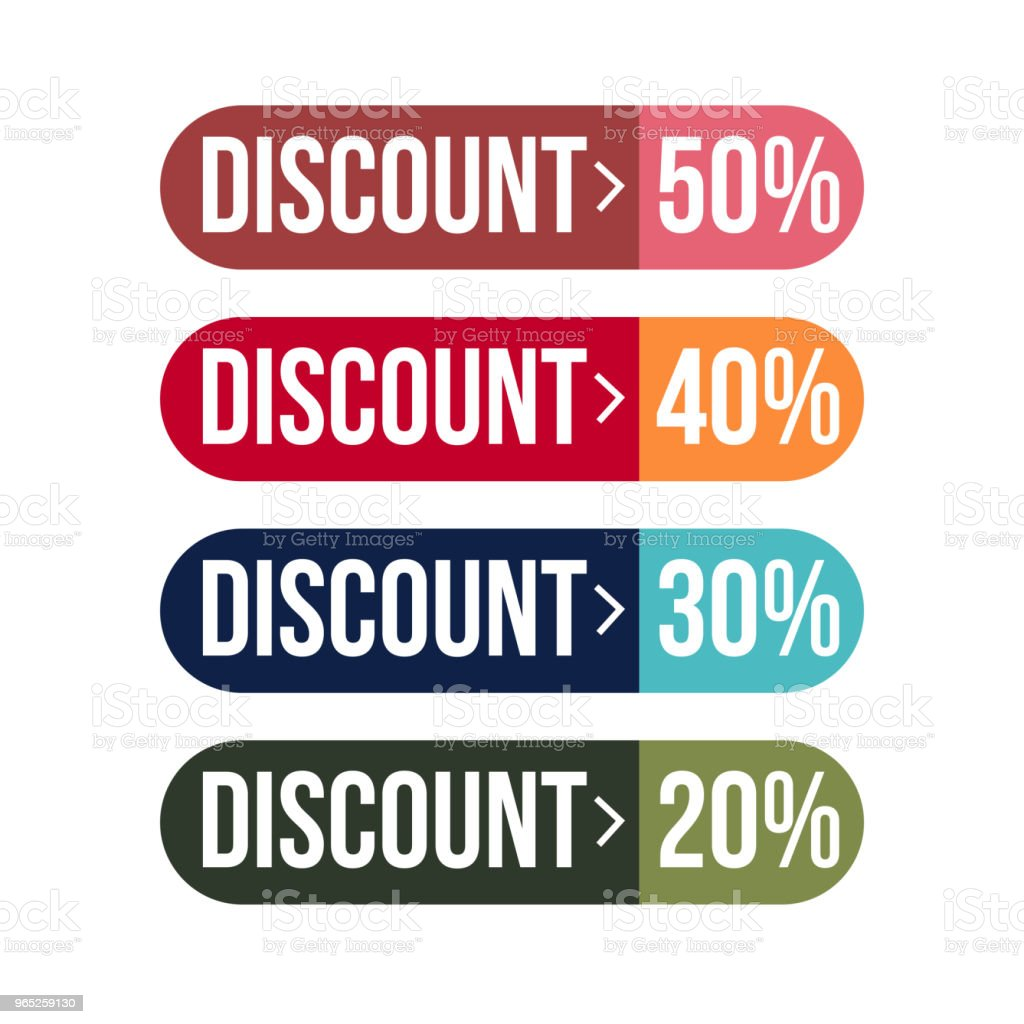 Discount Label Set Vector Template Design royalty-free discount label set vector template design stock vector art & more images of 2015