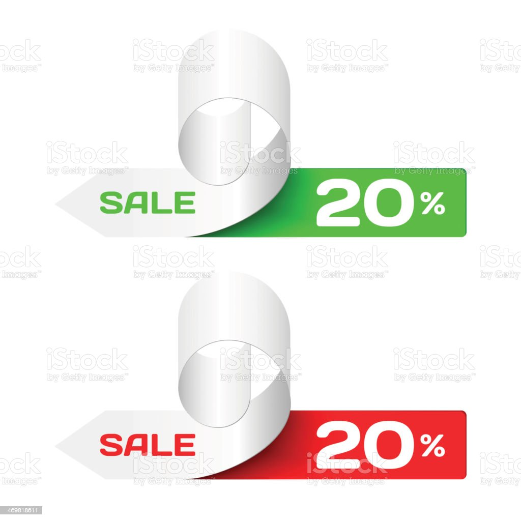 Discount labels. Set of Colorful  Sample stickers vector art illustration