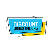 Discount limited time only lettering in Cadre. Inscription can be used for leaflets, posters, banners.