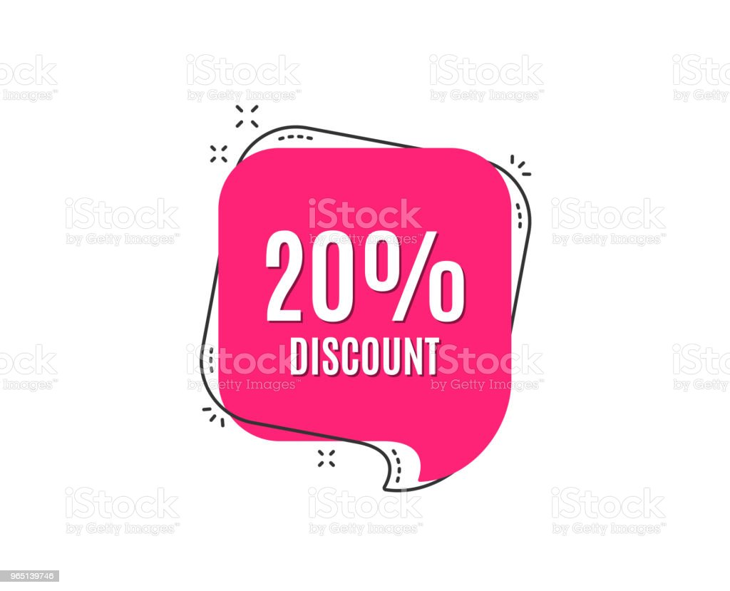 20% Discount. Sale offer price sign. royalty-free 20 discount sale offer price sign stock vector art & more images of advertisement