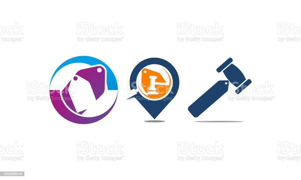 Discount Shopping Vector Set vector art illustration