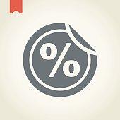 Discount sticker icon, vector illustration.