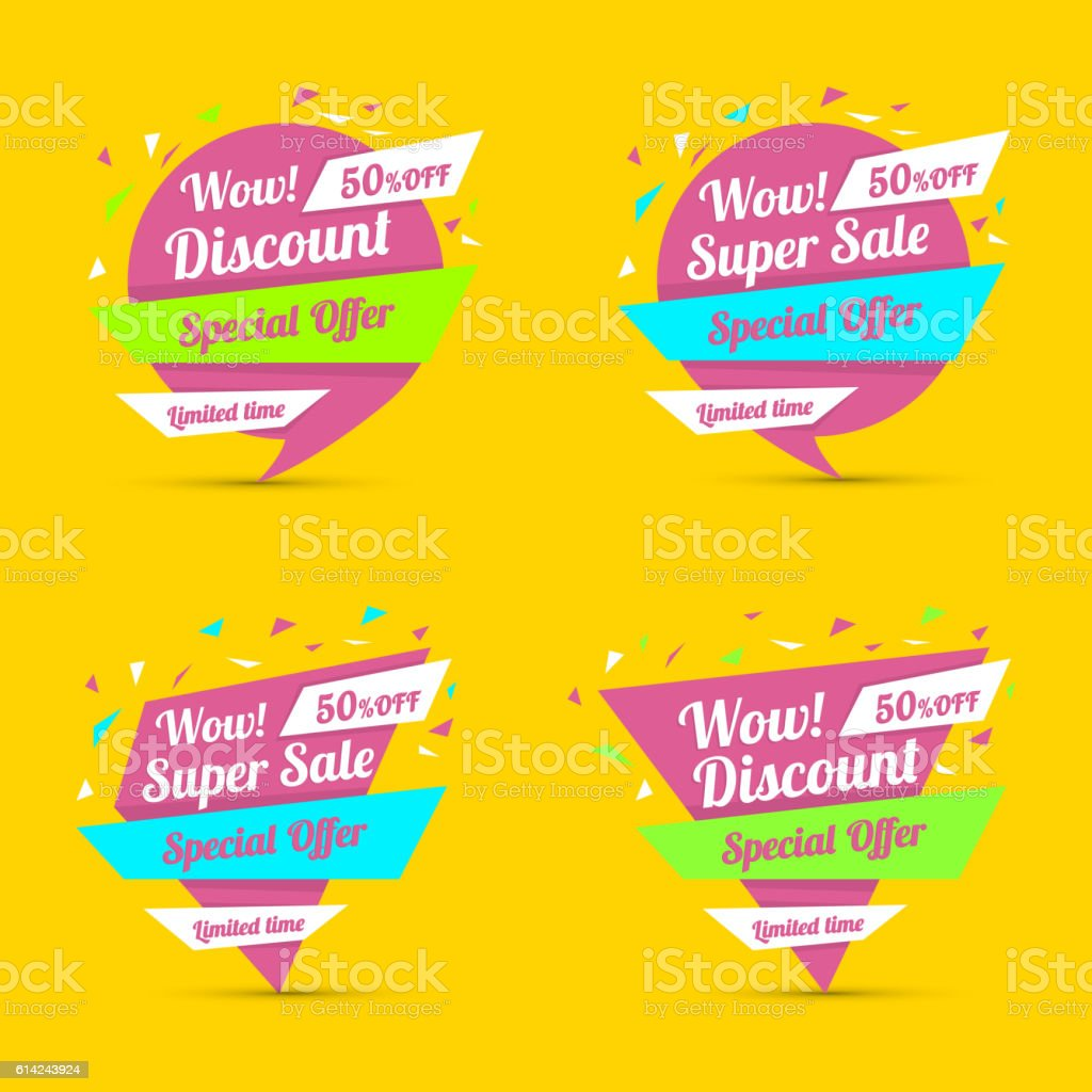 discount sticker special offer vector isolated promotion sale poster