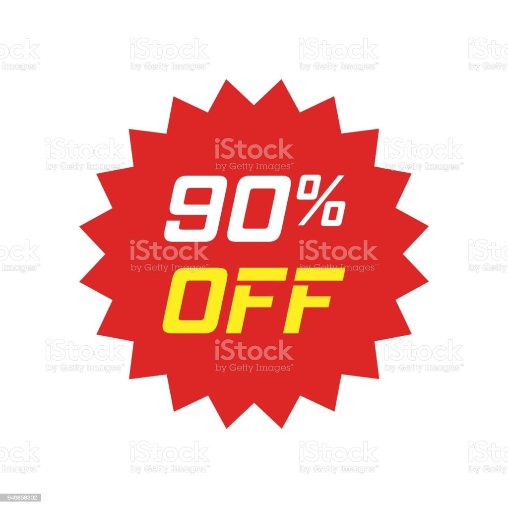 Discount Sticker Vector Icon In Flat Style Sale Tag Sign