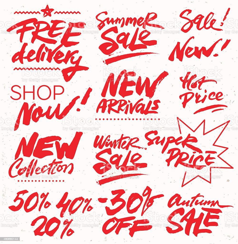Discount Symbols vector art illustration