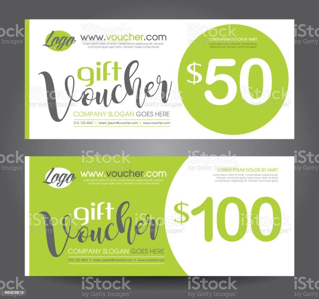 Discount voucher template vector art illustration