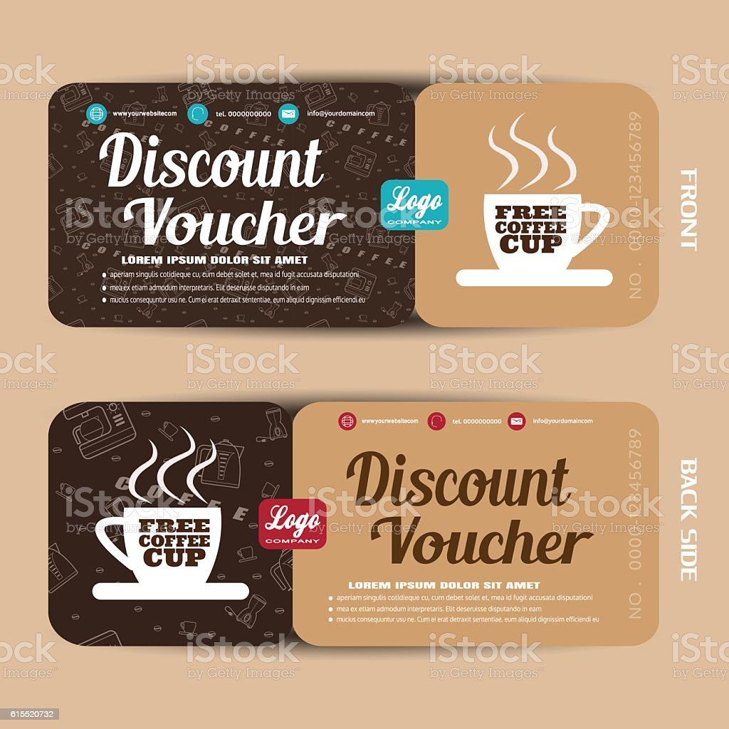 Discount voucher vector illustration to increase sales of coffee. vector art illustration