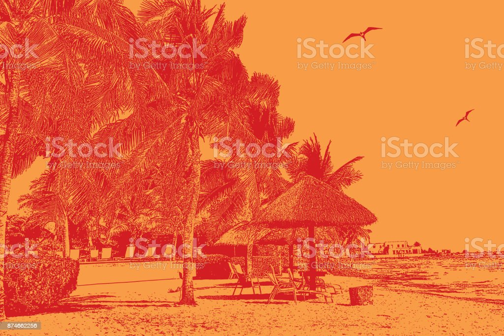 Discovering Mexico vector art illustration
