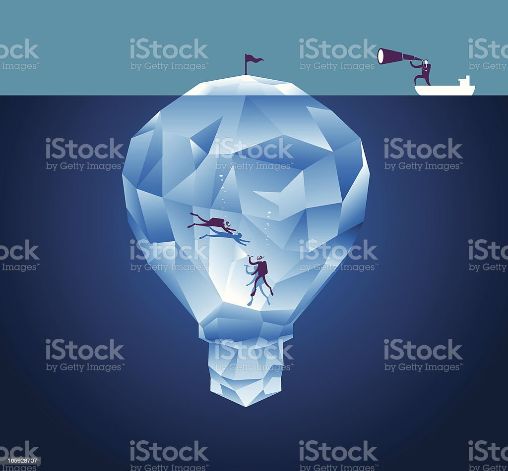 Discovery for Idea vector art illustration