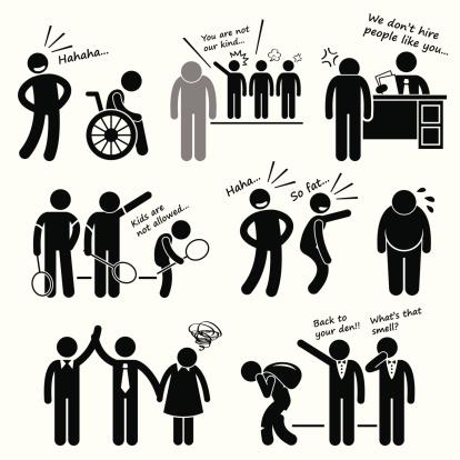Discrimination Racist Prejudice Biased Cliparts