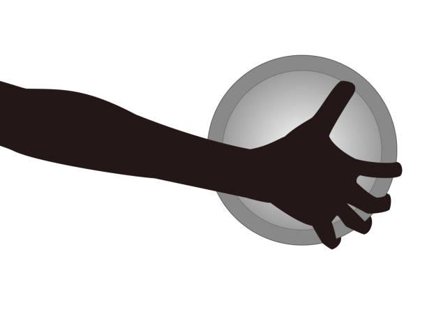 discus throwing icon – artystyczna grafika wektorowa