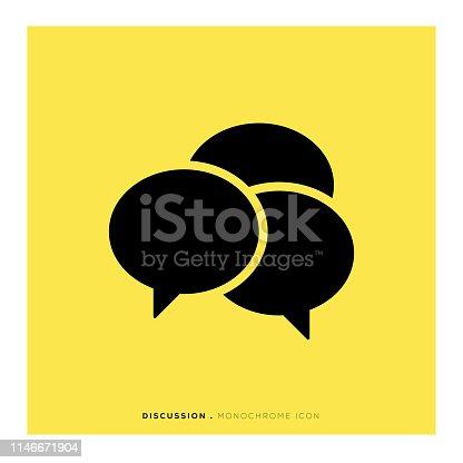 Discussion Monochrome Icon