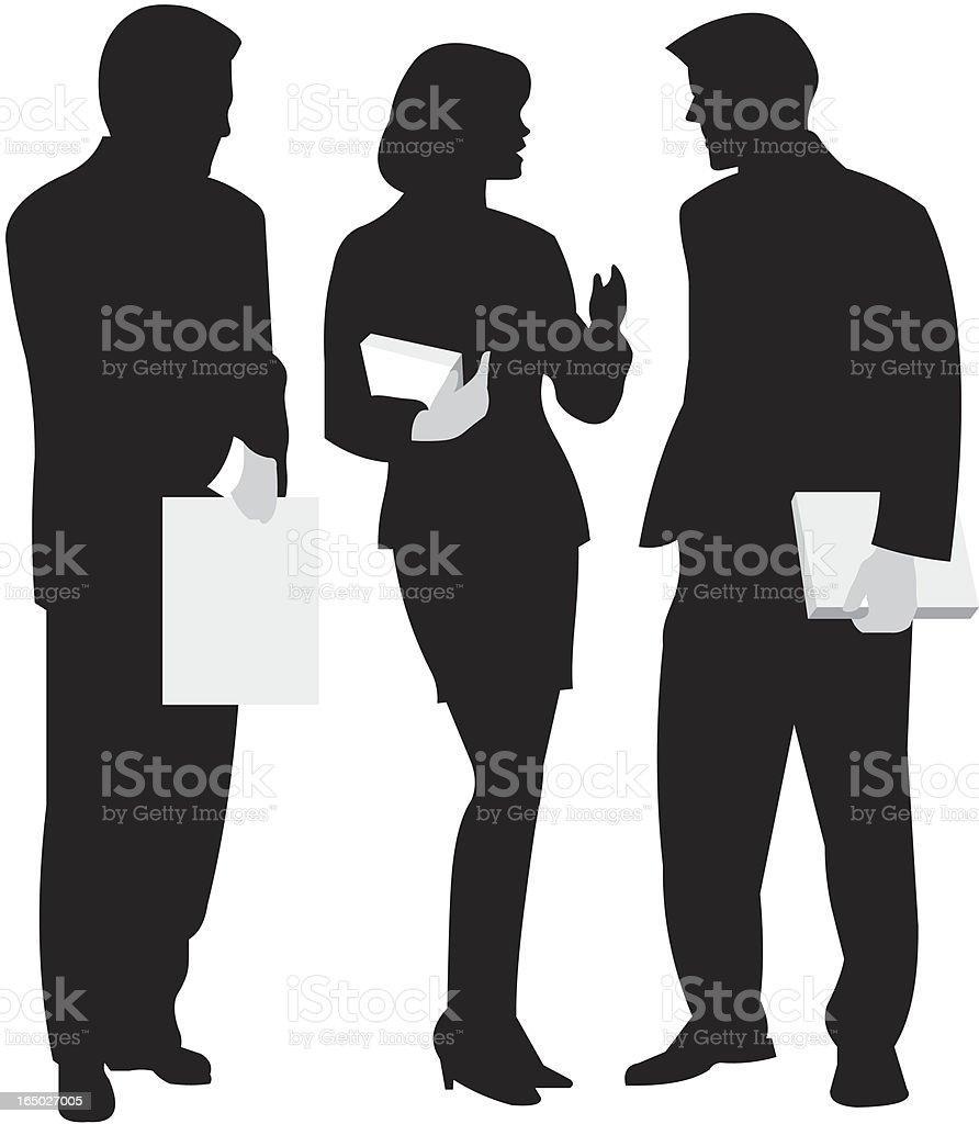 discussion of businessman vector art illustration