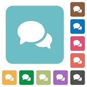 Discussion rounded square flat icons