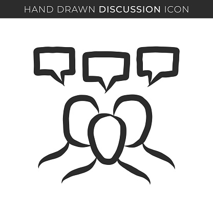 Discussion Single Line Icon