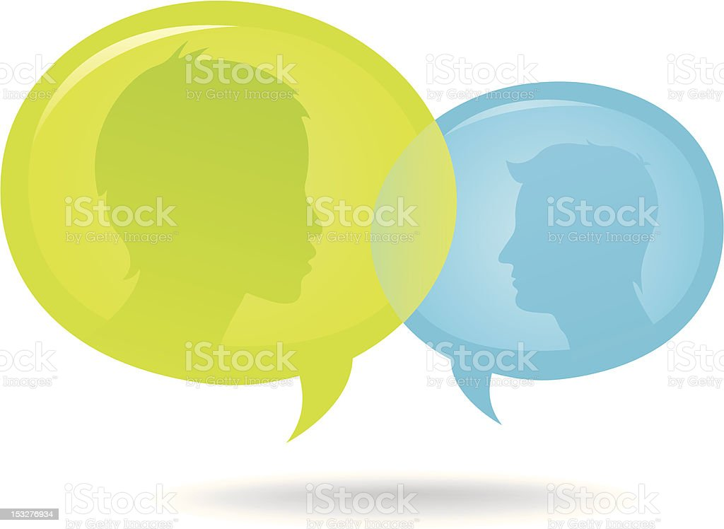 Discussion Speech Bubble royalty-free stock vector art
