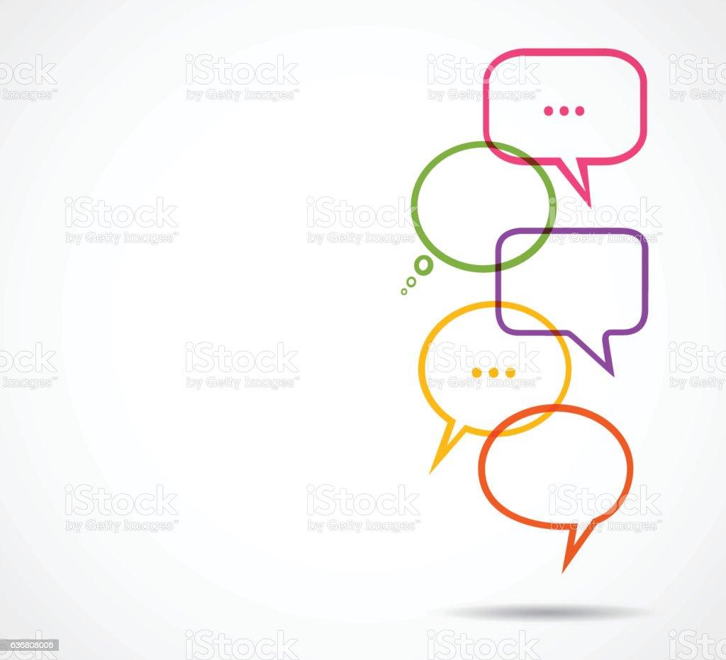 Discussion speech bubbles vector art illustration
