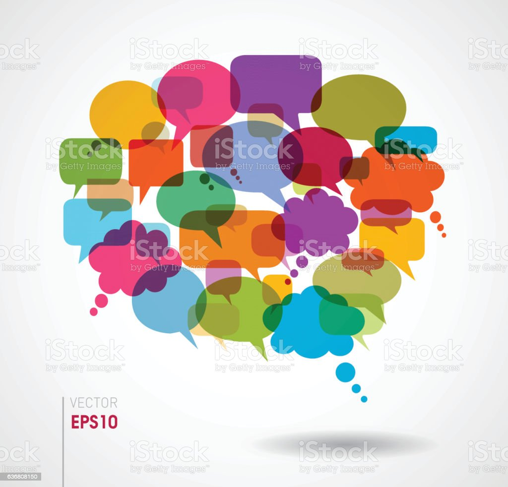 Discussion Speech Bubbles Stock Illustration