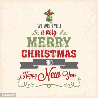 istock Diseño de letras para tarjeta de feliz navidad 526256791