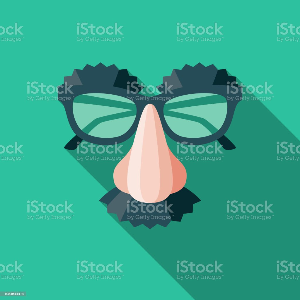 Disguise Flat Design April Fools Day Icon vector art illustration