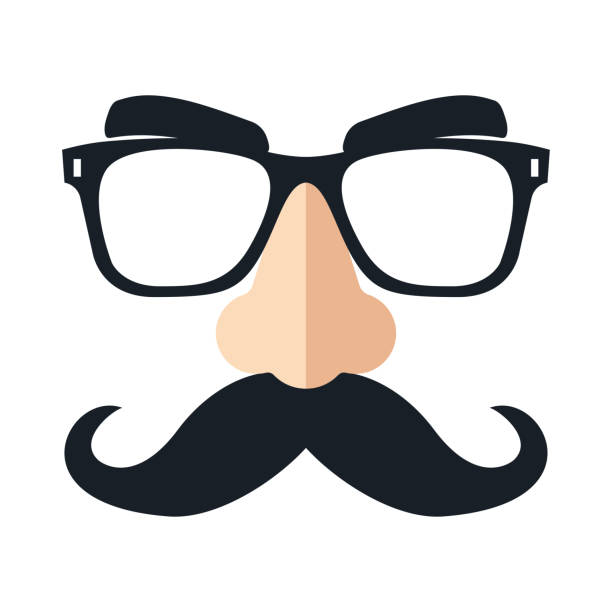 Disguise mask. Funny glasses. Vector Disguise mask, glasses, nose and mustache. Funny glasses Vector illustration dishonesty stock illustrations