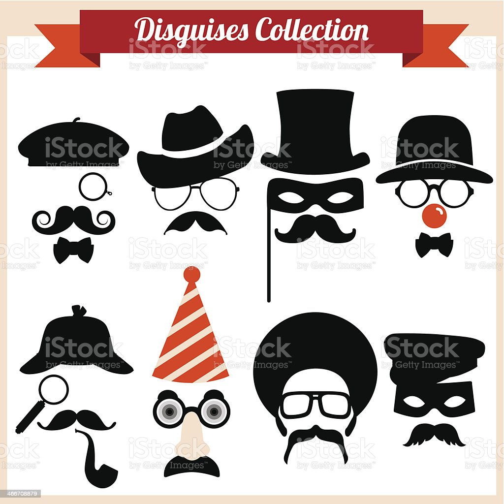 Disguises Collection vector art illustration