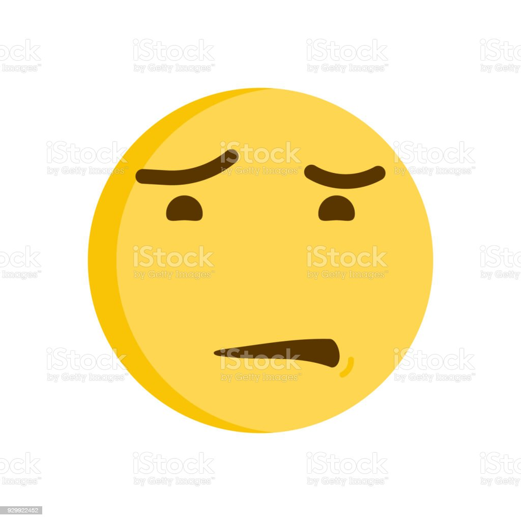 Disgusted emoticon vector emoji smiley icon illustration