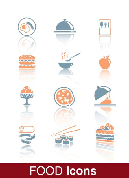 speisen sie in der speisekarte des restaurants - tortenständer stock-grafiken, -clipart, -cartoons und -symbole