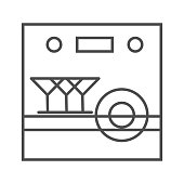 dishwasher icon.