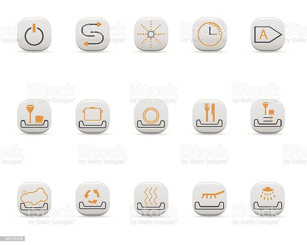 Super Geschirrspüler Und Symbole Stock Vektor Art und mehr Bilder von PD75