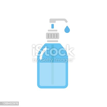 istock Disinfection and Hand Sanitizer Icon Flat Design. 1269452976