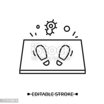 istock Disinfection mat icon. Antibacterial doorstep cover simple vector illustration 1270238618