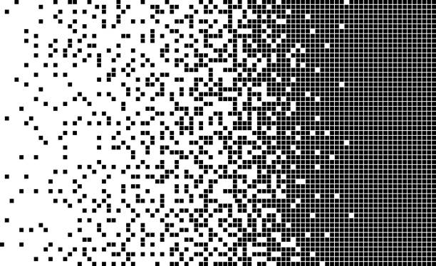 disintegration, Dispersed background Vector illustration. square composition stock illustrations