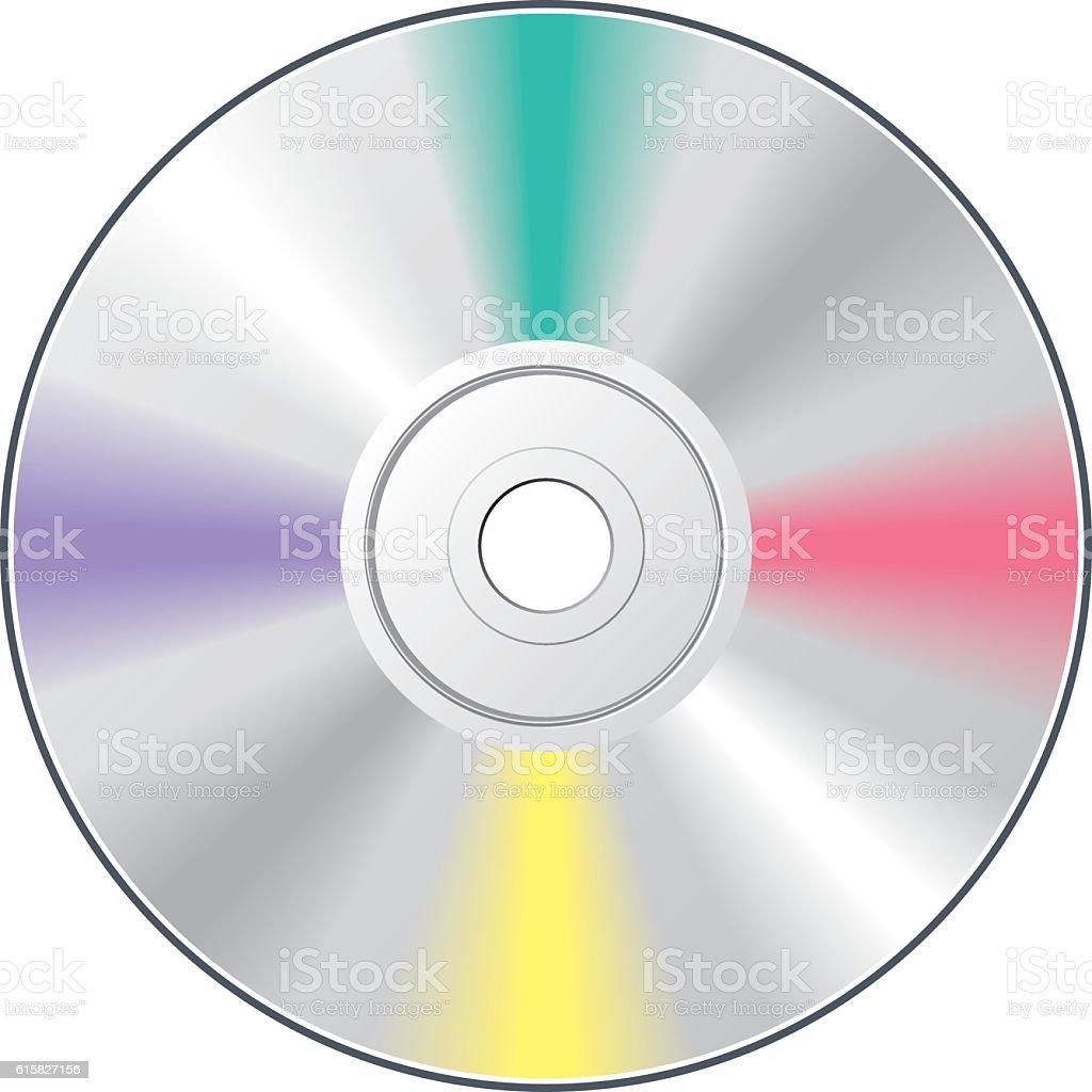CO DVD disk vector art illustration