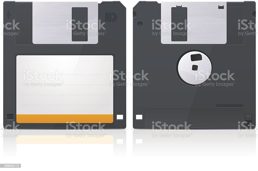 Diskette vector art illustration