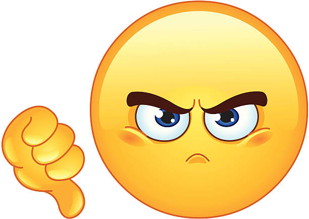 Dislike emoticon Dislike emoticon displeased stock illustrations
