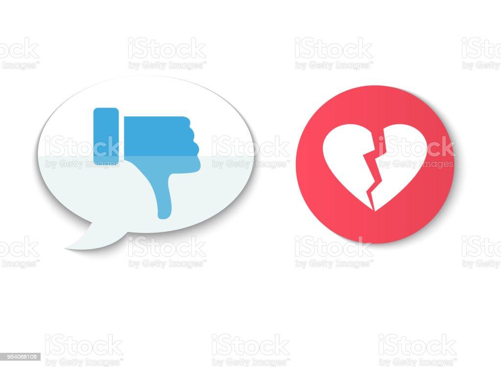 Dislike Hand Thumb Down Illustration Vector Symbol Sign Gesture