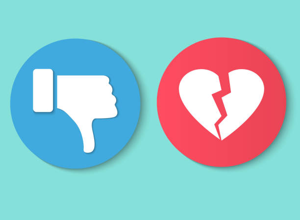 Dislike hand thumb down illustration vector symbol sign gesture. Dislike broken heart Dislike hand thumb down illustration vector symbol sign gesture. Dislike broken heart displeased stock illustrations