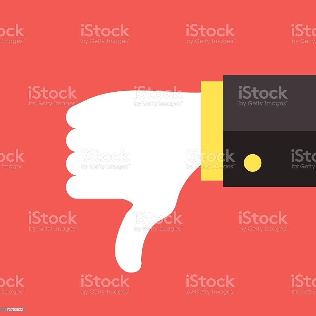 Dislike icon. Social network dislike illustration concept vector art illustration