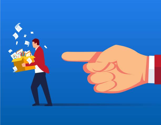 dismissed businessman - unemployment stock illustrations