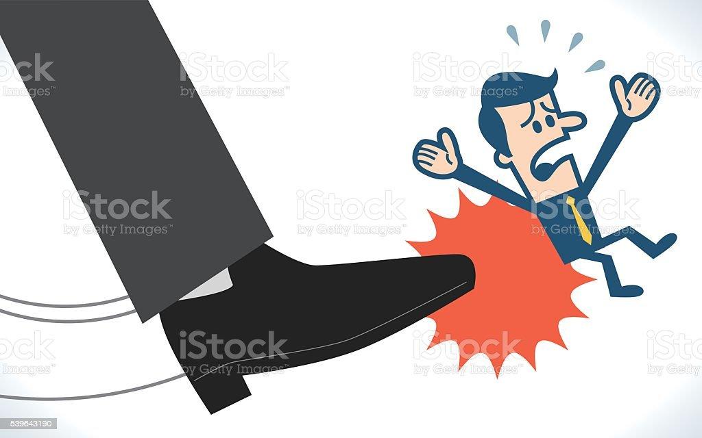 Dismission vector art illustration
